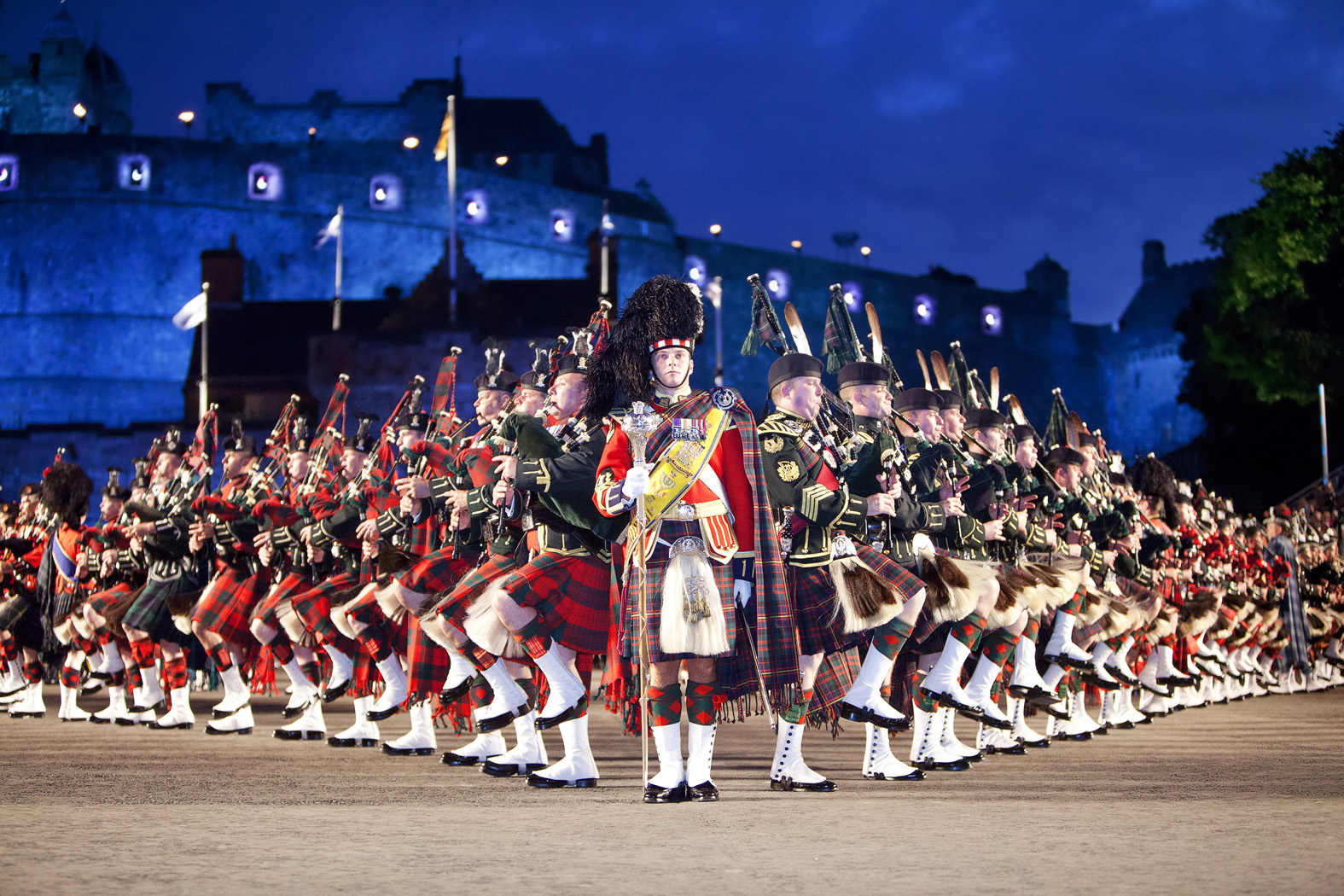 Photograph of Edinburgh Military Tattoo taken by owner of Edinburgh Photography Workshop, Rich Dyson, LRPS