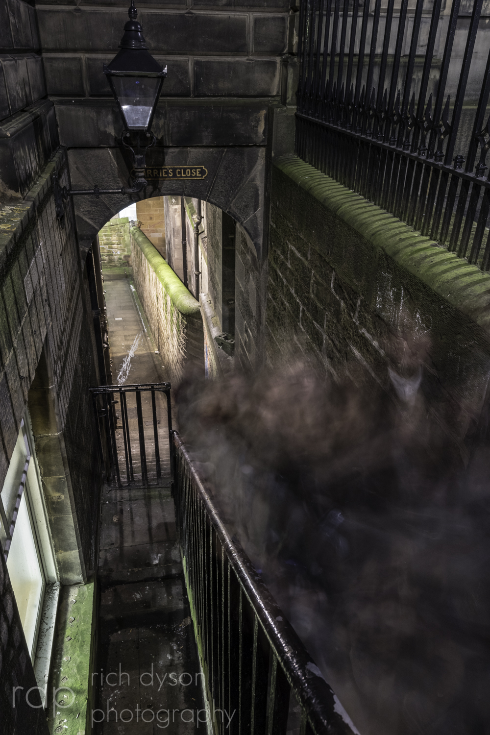 Ghostly figures rise up Barrie's Close in Edinburgh
